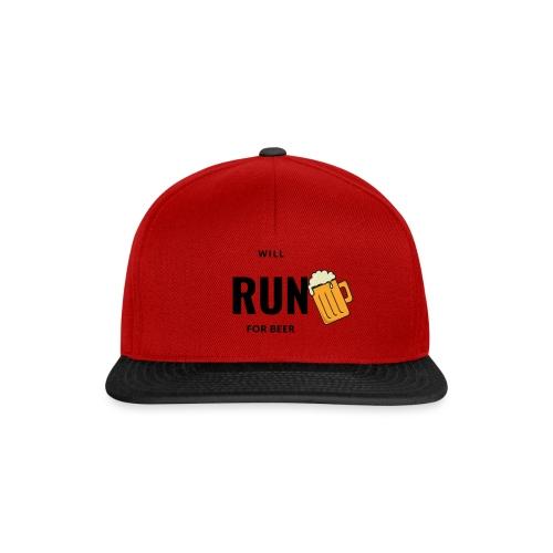 Will run for beer - Snapback cap