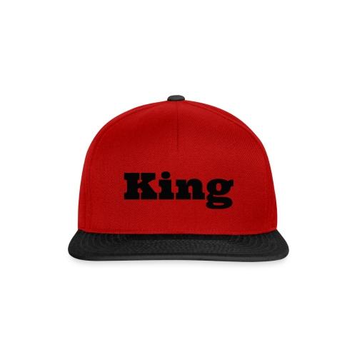 Snapback king grijs/zwart - Snapback cap