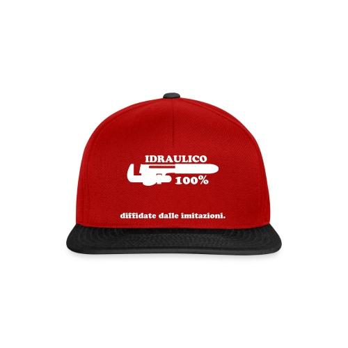 Idraulico 100% Logo XL BIANCO - Snapback Cap