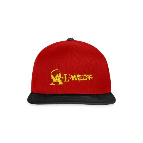 logo alwest jauneorange - Casquette snapback