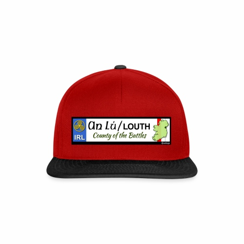 CO. LOUTH, IRELAND: licence plate tag style decal - Snapback Cap