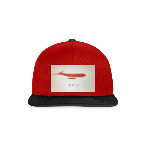 SAVE THE WHALES - Snapback Cap
