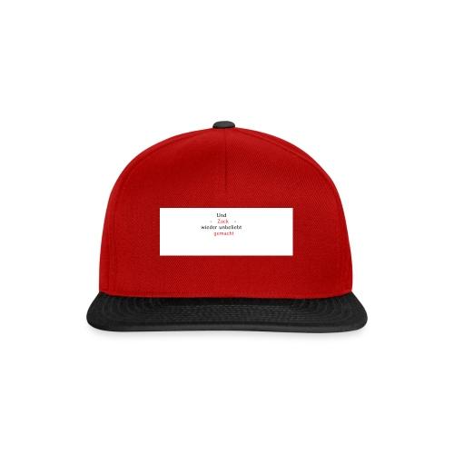 zack unbeliebt - Snapback Cap