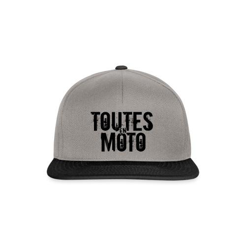 1 Logo TEM noir - Casquette snapback