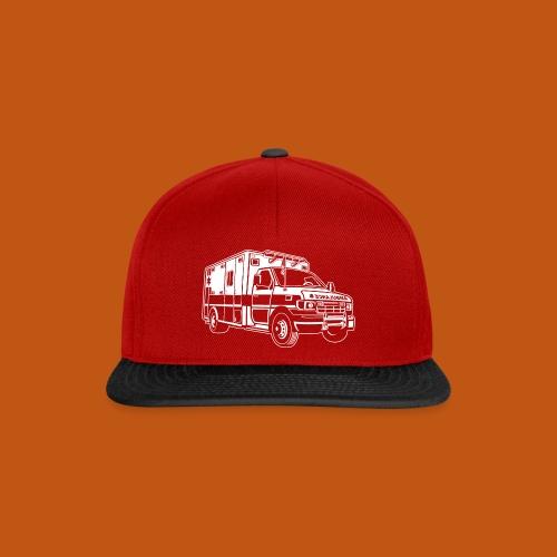 Krankenwagen / Rettungswagen 01_weiß - Snapback Cap