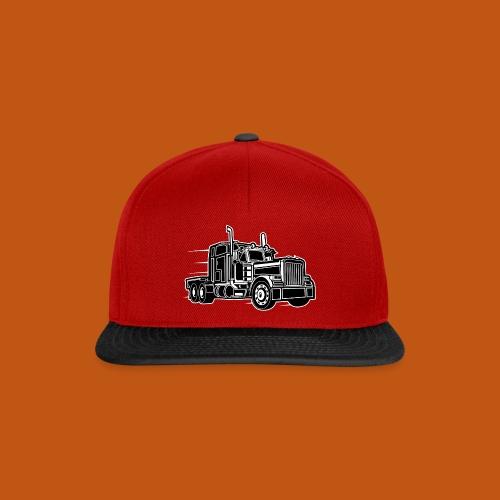 Truck / Lkw 03_schwarz weiß - Snapback Cap