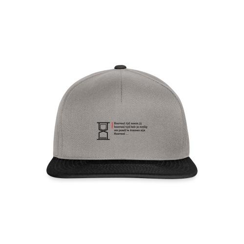 Geschreven gedichten - Hoeveel tijd heb je nodig - Snapback cap