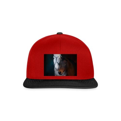 Painted horse portrait - Snapback Cap
