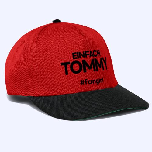 Einfach Tommy / #fangirl / Black Font - Snapback Cap