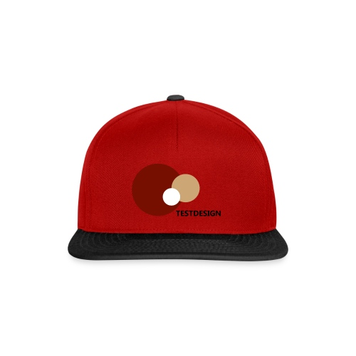 testdesign_font_black_transparent_background - Snapback Cap
