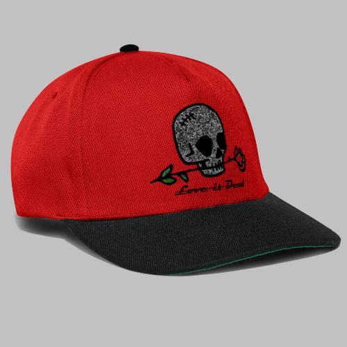 Love Is Dead Custom Skull Design - Snapback cap