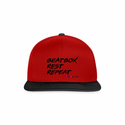 Beatbox Rest Repeat - Large - Snapback Cap
