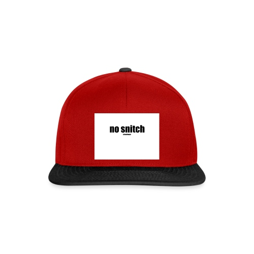 no snitch - Snapback Cap