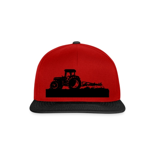 Tractor with cultivator - Snapback Cap