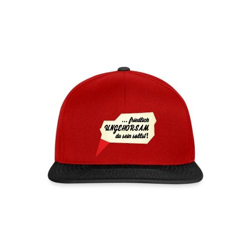 friedlich ungehorsam - Snapback Cap