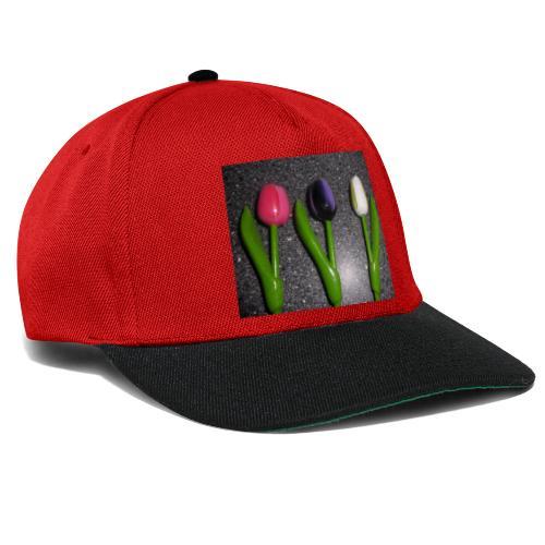 Bunte Holz Blumen - Snapback Cap