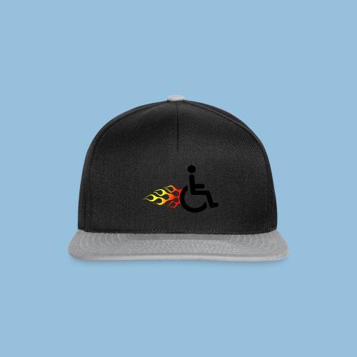Roller met vlammen 009 - Snapback cap