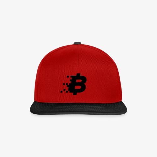 Bitcoin black logo - Snapback Cap
