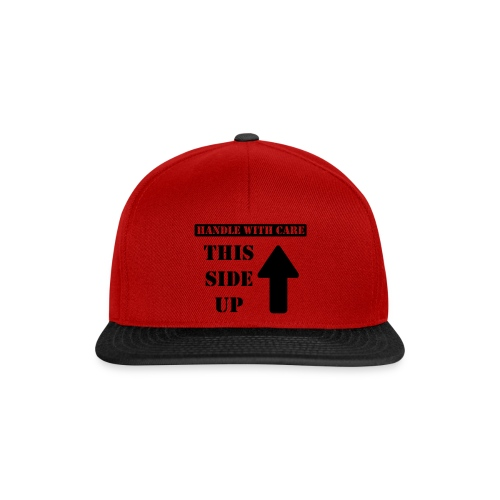 Handle with care / This side up - PrintShirt.at - Snapback Cap