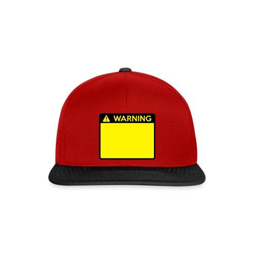 Warning Sign (2 colour) - Snapback Cap