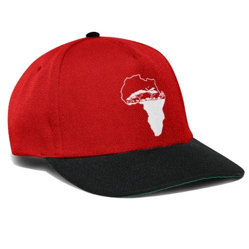 Savane Afrique logo Blanc - Casquette snapback