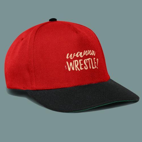 wannawrestle? - Snapback cap