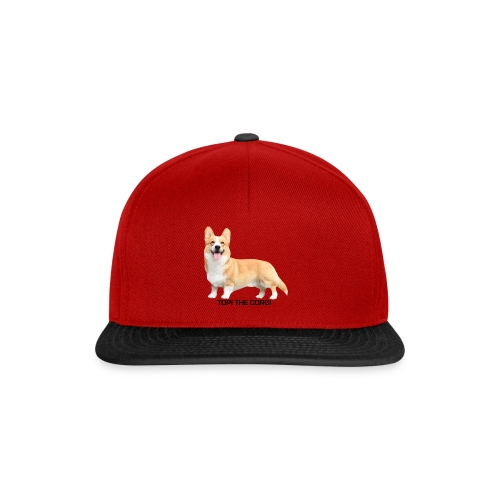 Topi the Corgi - Black text - Snapback Cap