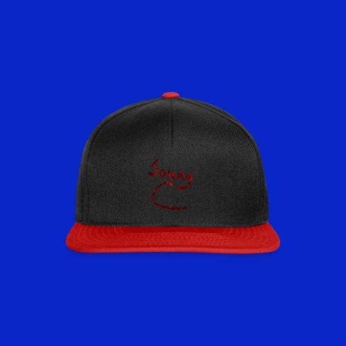 Jonny C Red Handwriting - Snapback Cap