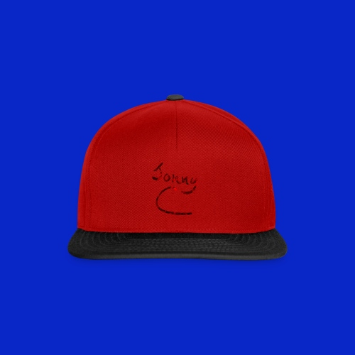 Jonny C Red Handwriting - Snapback Cap