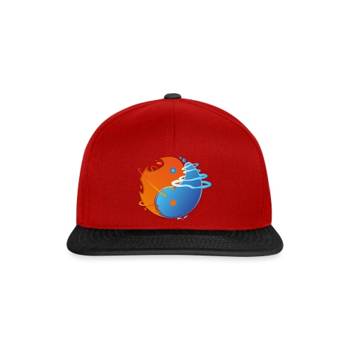 Ying-yang feu et glace - Casquette snapback