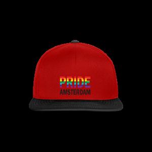 Pride Amsterdam in regenboog kleur en zwart - Snapback cap