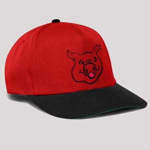 PIGGY Black - Snapback Cap