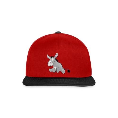 Esel - Kuschelesel sitzend - Snapback Cap