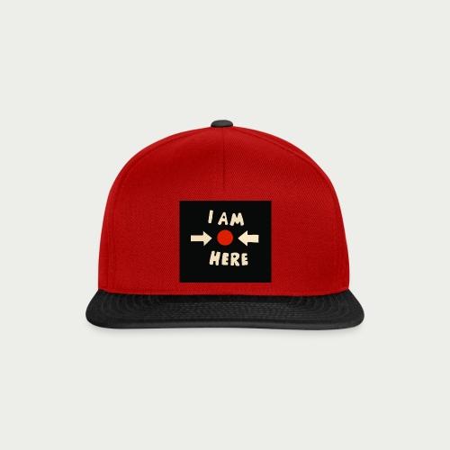 Maske I am here - Snapback Cap