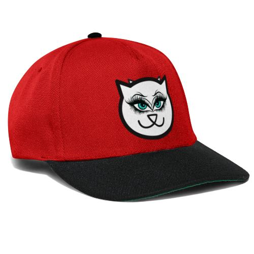 Hipster Cat Girl by T-shirt chic et choc - Casquette snapback