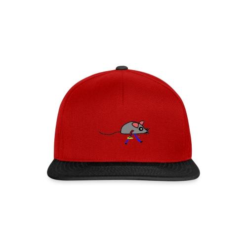 Maus mit Käse Lustiges Motiv - Snapback Cap