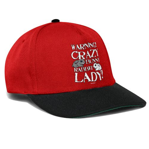 Crazy Bunny Lady - Snapback Cap