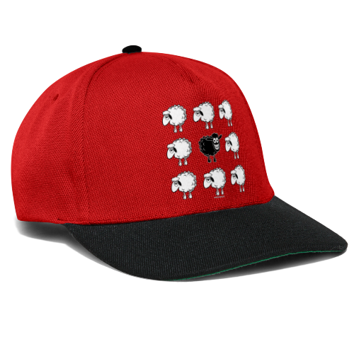 10-45 BLACK SHEEP - musta lammas lahjatuotteet - Snapback Cap