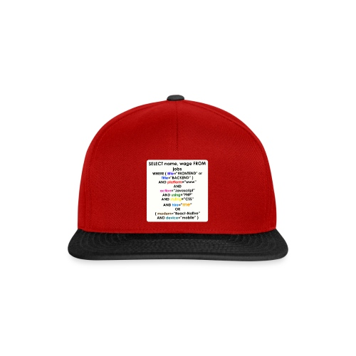 SELECT NEW JOB - Snapback Cap