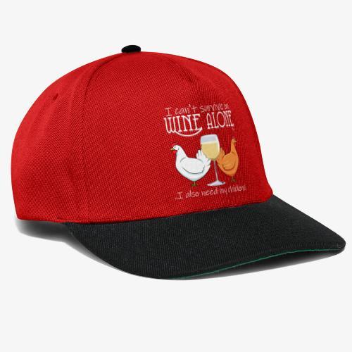 Wine Alone Chickens Ii - Snapback Cap