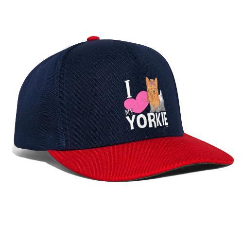 I love my Yorkie - Snapback Cap
