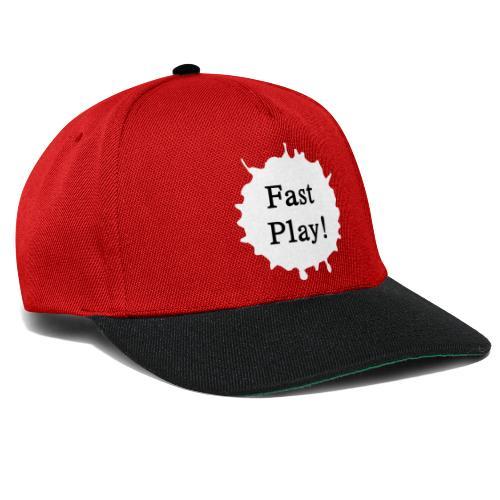 Fast play weiß - Snapback Cap