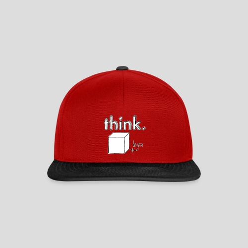Think Outside The Box Illustration - Snapback Cap