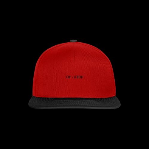 CO² = Leben! Black - Snapback Cap
