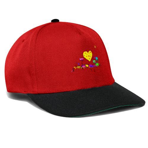 Blumengruß mit Herz - Snapback Cap