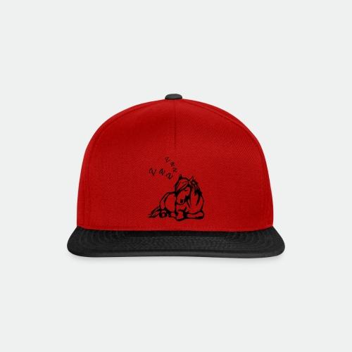 ZZZ Schlafendes Pferd - Snapback Cap