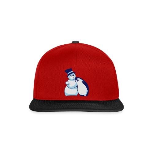 Schneemann und Pinguin - Snapback Cap
