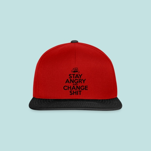 Stay Angry - Snapback Cap
