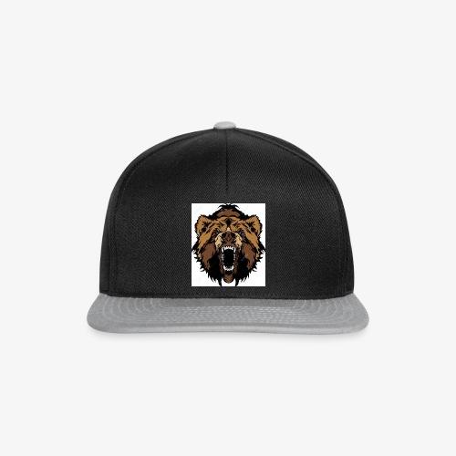oso grizzly mascota cabeza vectorial - Gorra Snapback