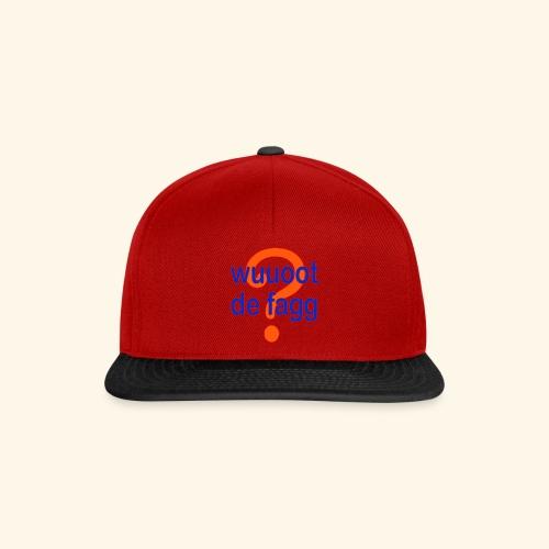 wuuoot de fagg? 002 (rot blau + rot orange) - Snapback Cap